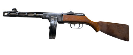 automatic rifle isolated on white background. automatic rifle from the Second World War.
