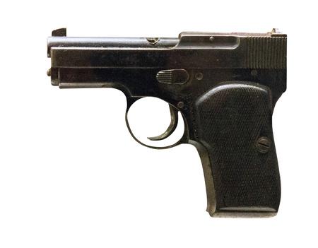 Gun isolated on white background. gun from World War II .