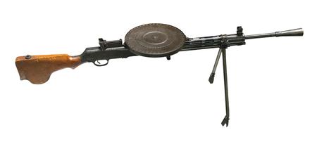 automatisches Gewehr isoliert auf weißem Hintergrund. automatisches Gewehr aus dem zweiten Weltkrieg.