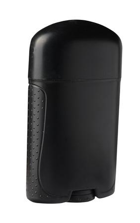 deodorant isolated on white background. bottle black color deodorant ,front side view. Reklamní fotografie