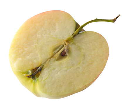 apple isolated on white background. red yellow apple .cut apple top side view 写真素材