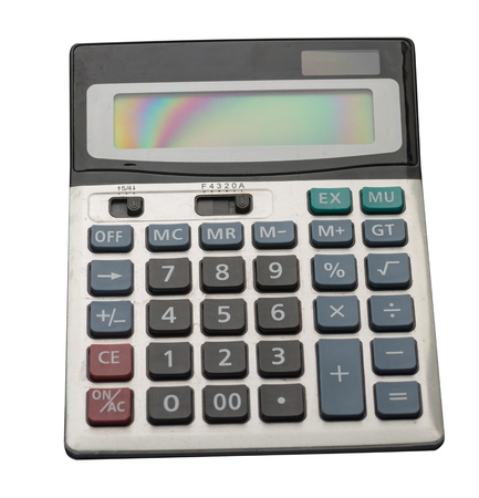 calculator isolated on white background..digital calculator top view