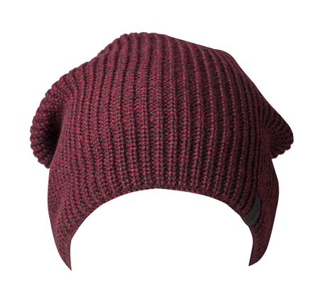 hat isolated on white background .knitted hat front side.
