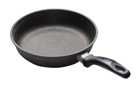 empty iron pan with isolated on white background. Imagens - 124869459