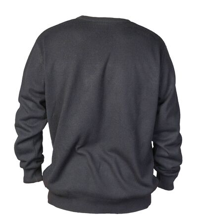 knitted blacksweater with a zipper isolated on a white background. men's sweater under the neck back view. Casual style