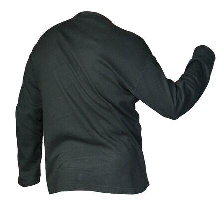 black sweatshirt isolated on a white background. sweatshirt  sporty style 写真素材