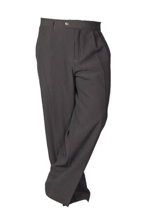 black pants isolated on white background.fashion men's trousers Archivio Fotografico