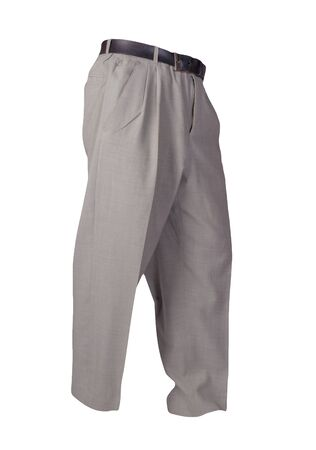 lignt gray pants isolated on white background.fashion men's trousers