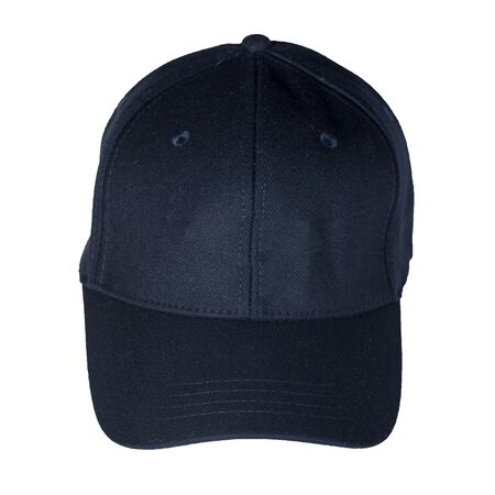 dark blue baseball cap isolated on a white background. sporty style. summer hat