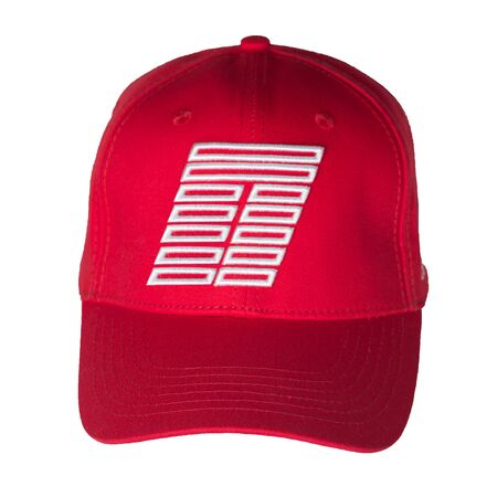 red baseball cap isolated on a white background. sporty style. summer hat