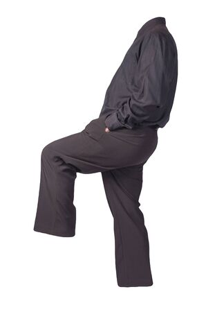 men's black shirt and black pants isolated on white background. fashion clothes Stock Photo