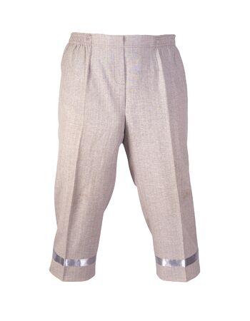 women's light brown pants breeches isolated on white background.women's casual wear Standard-Bild