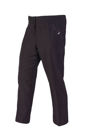 women black trousers isolated on white background.women's casual wear