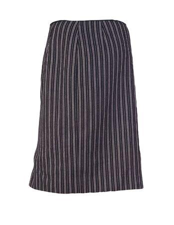 female black white striped skirt isolated on a white background. fashion women clothes