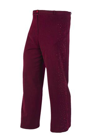 women dark red pants isolated on white background.women's casual wear Standard-Bild