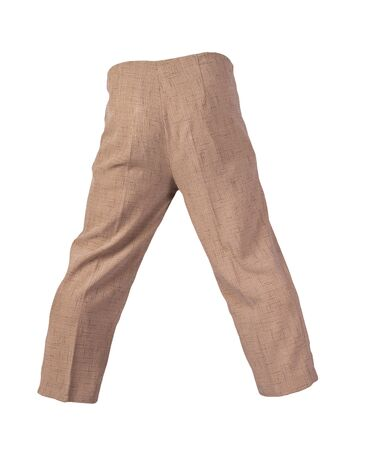 women light brown pants isolated on white background.women's casual wear