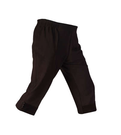 women's black pants breeches isolated on white background.women's casual wear