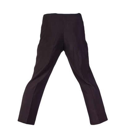 women black trousers isolated on white background.women's casual wear Standard-Bild