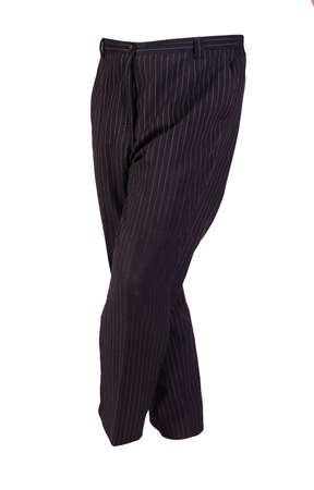 women black white striped trousers isolated on white background.women's casual wear