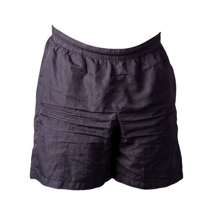 men's black shorts isolated on white background .sport pants