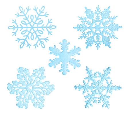 ブルーな雪白い背景に分離されました。