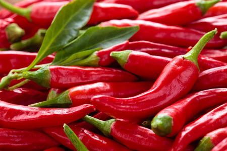 Tło z dojrzałych czerwone papryki chili. Zdjęcie Seryjne