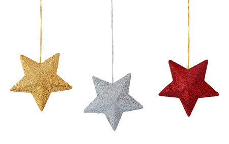 Set of colorful stars  isolated on white background.