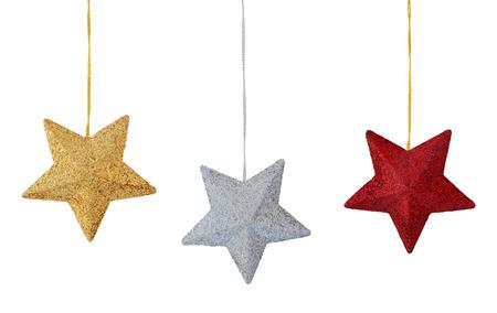 Set van kleurrijke sterren op een witte achtergrond.