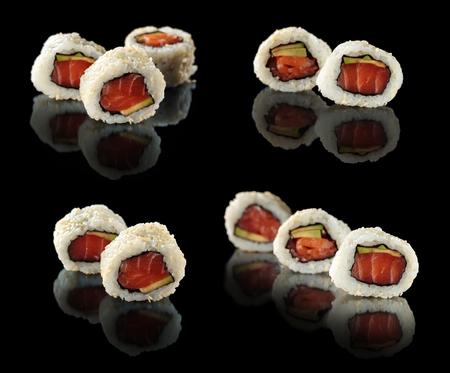Fresh sushi rolls.