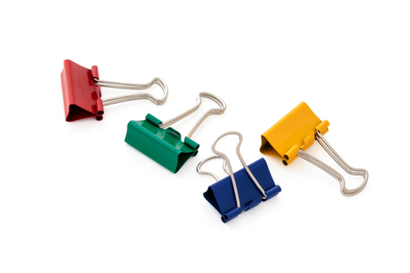 Colorful paper clips. Stock Photo