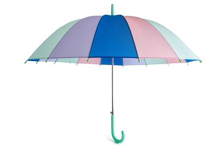 Pastel colored umbrella isolated on white background. Standard-Bild - 133697829