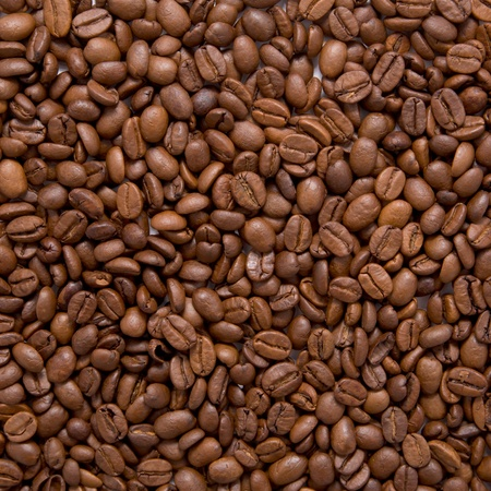 brown coffee beans, background or texture, close-up Stock Photo - 13400719