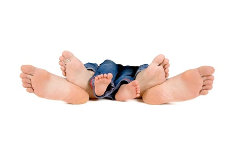 family feet mother, father and baby Stock Photo - 14608451