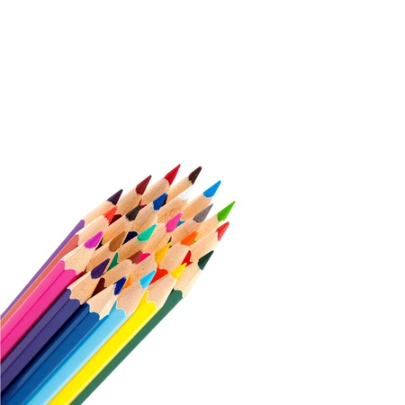 color pencils as a bunch or bouquet isolated on a white background Stock Photo - 15162416