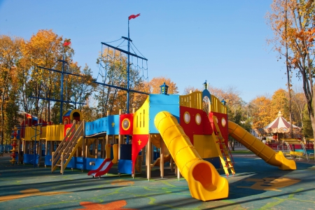Children playground on a sunny day Stock Photo - 15977797