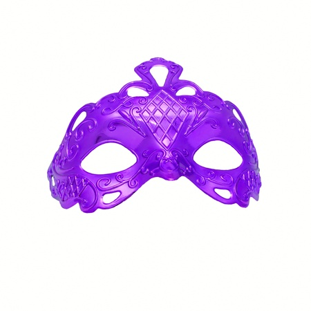 painted face mask: Purple carnival mask. Isolated on white background