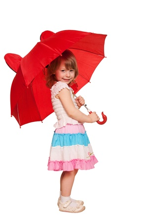 A little girl with an umbrella photo