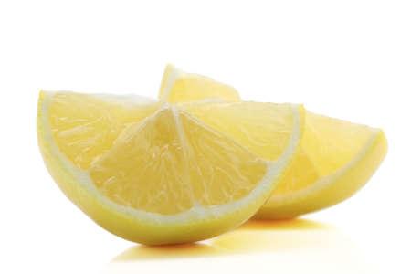 Sliced lemon isolate on white background