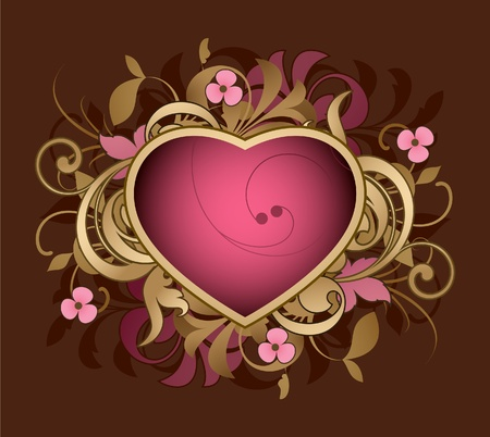 Heart is decorated design elements