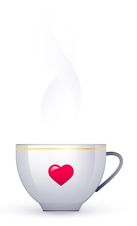 White cup on a white background Illustration