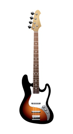 fender: bass a guitar on a white background