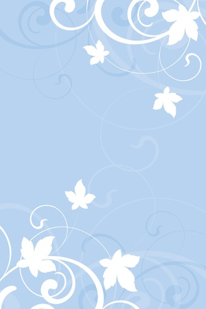 floral background on a blue background Illustration