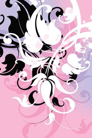 decorative flower on grunge a background