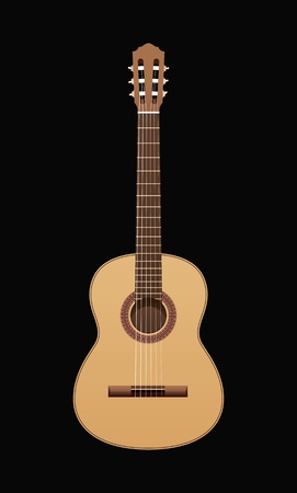 strum: acoustic guitar on a black background