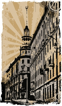 old town Stock Vector - 10138705