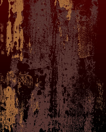 rust: texture of rusty metal in dark colours Illustration