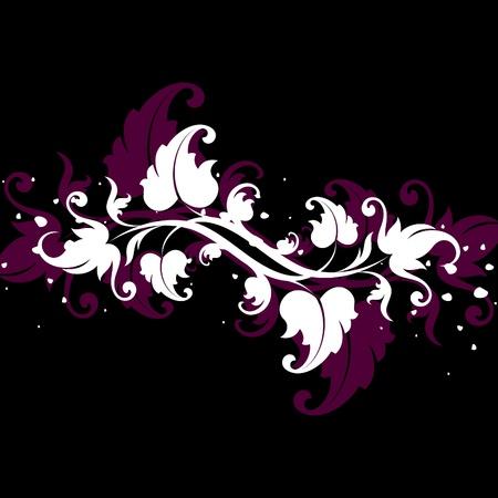 accents: elementos decorativos blancos sobre fondo negro
