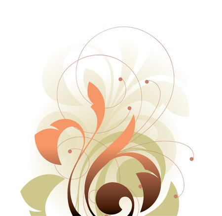 Floral elements on a white background Stock Vector - 14657555