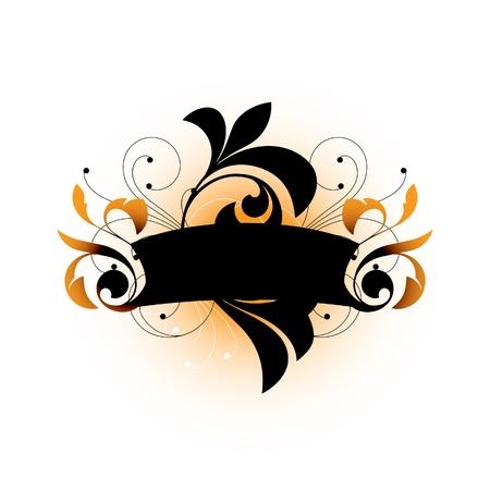 Dark decorative elements on a white background