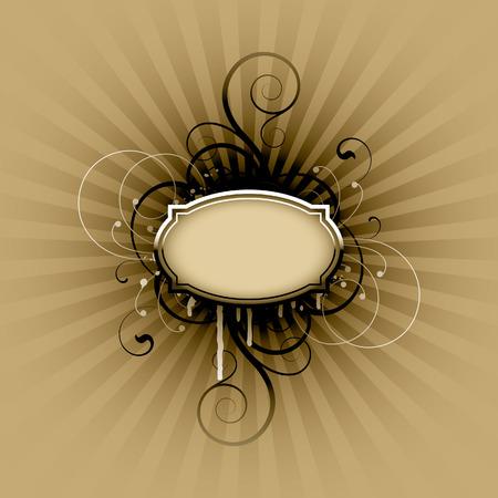Floral elements on a white background Illustration